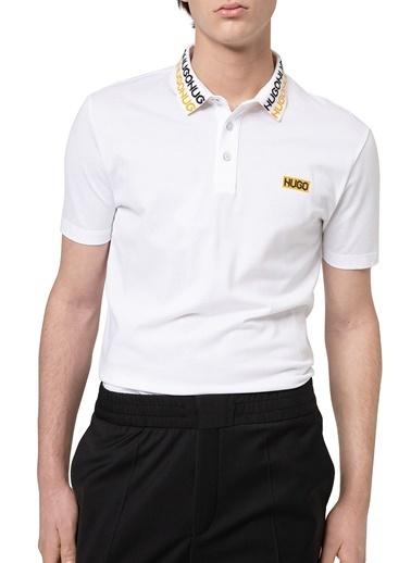 Hugo Boss  % 100 Pamuklu Polo T Shirt Erkek Polo 50448861 100 Beyaz